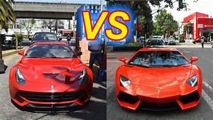 Ferrari Vs Lamborghini : ferrari f12 berlinetta vs lamborghini aventador lp700 4 ciudad de m xico youtube ~ Medecine-chirurgie-esthetiques.com Avis de Voitures