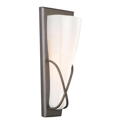 shop portfolio 5 13 in w 1 light rubbed bronze pocket