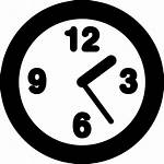 Svg Icon Clock Outline Numbers Round Vector