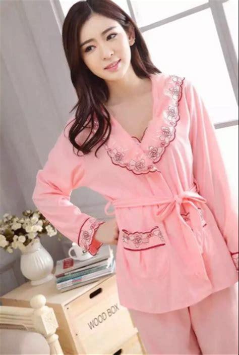 jual baju tidur kimono panjang baju tidur muslim