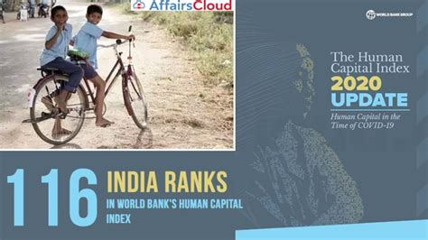 India Ranked 116th in World Bank's Human Capital Index 2020