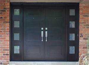 Modern Front Entry Doors in African Mahogany - Chad Womack