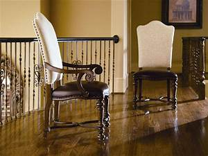 Universal furniture dining room upholstered back arm chair for Universal dining room furniture