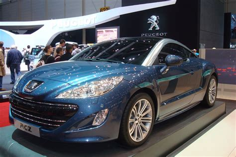 peugeot france automobile peugeot rcz france salon de l auto 2010 geneve