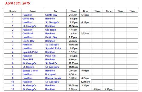 list  bus cancellations  monday april  bernews
