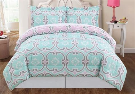 boutique geometric teal green gray pink king comforter bedding set bedroom ideas