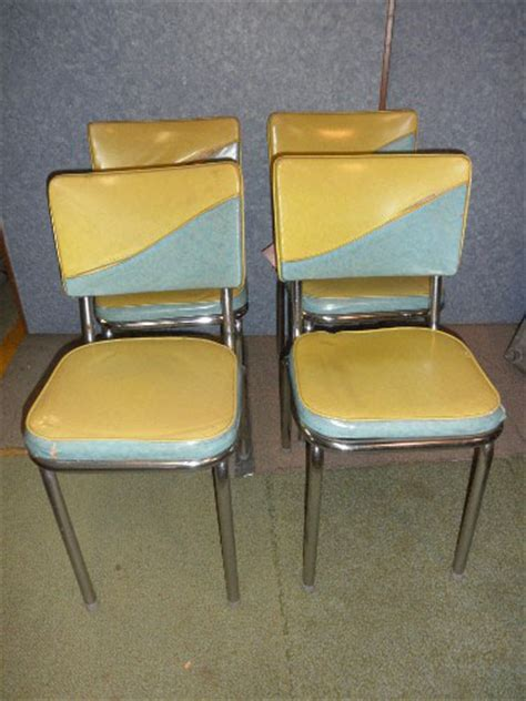 chairs chrome and vinyl jy103 for sale antiques