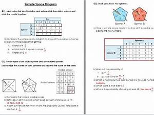 Sample Space Diagram Worksheet Wih Solutions