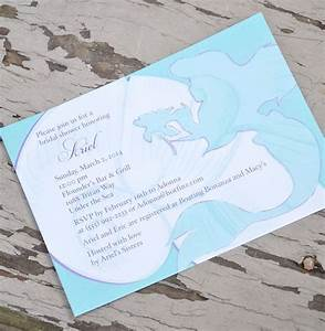 disney the little mermaid ariel shower invitation With personalised disney wedding invitations