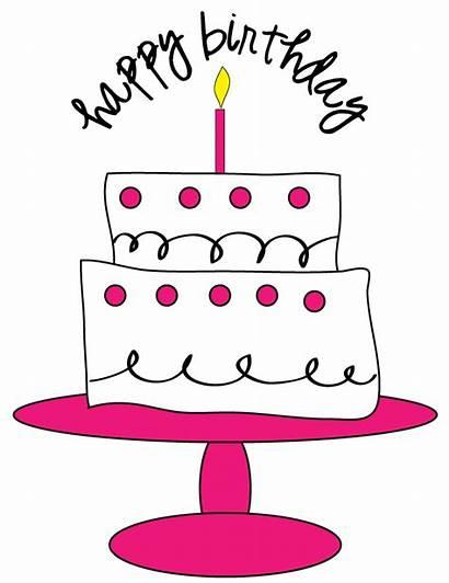Cake Birthday Clipart Clip Pink Cupcake Polka