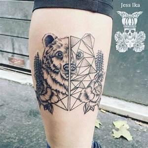 Tatouage Loup Geometrique : tatouage ours graphique ~ Melissatoandfro.com Idées de Décoration