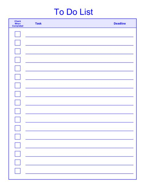 word template to do list free printable daily weekly to do list for template