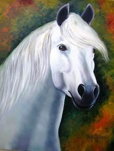 cavalo branco no elo7 beatriz helena pintura em tela
