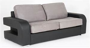 canape convertible couchage 160 cm alban wilma noir micro 23 With canapé convertible couchage quotidien avec tapis enfant