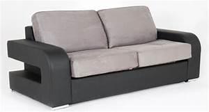 canape convertible couchage 160 cm alban wilma noir micro 23 With tapis chambre bébé avec canape 160 convertible