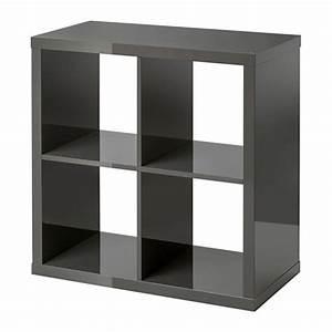 Etagere Cube Noir : kallax tag re brillant gris ikea ~ Teatrodelosmanantiales.com Idées de Décoration