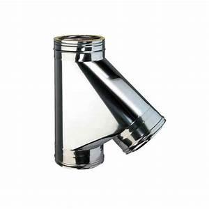 Chapeau Inox Pour Tubage : t 135 inox pour raccordement tubage conduit double ~ Edinachiropracticcenter.com Idées de Décoration