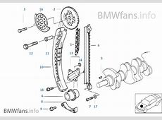 Timing and valve traintiming chain BMW 3' E46 318i M43
