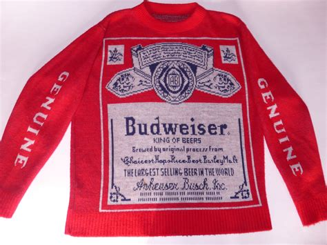 budweiser sweater my budweiser sweater its the thing a genuine not