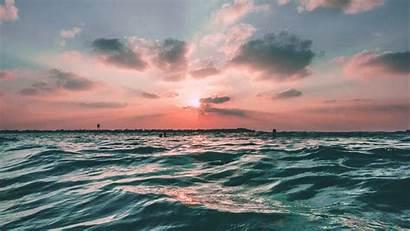 Sea Sunset Ocean Water Sky Nature Desktop