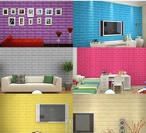 Sticky wallpaper from creative 3 d TV setting wall brick ...