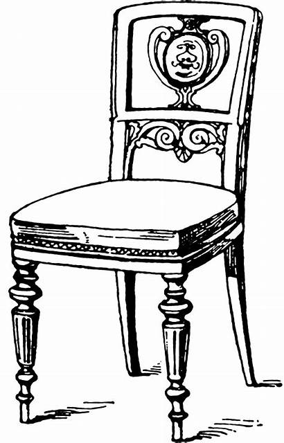 Clipart Chair Modern Coloring Clip Wood Etc
