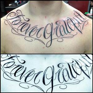Tatuaje Pecho Letras por Fixed Army