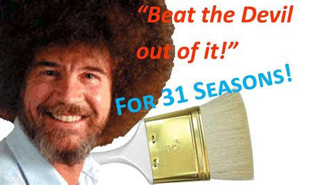 31 Seasons Of Bob Ross Cleaning