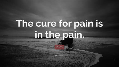 rumi quote  cure  pain    pain
