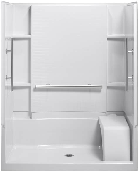 60 X 30 Shower Base With Seat by Fiberglass Shower Stalls