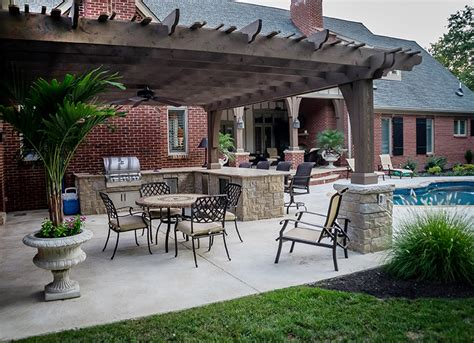 outdoor kitchens designs cook out st louis homes lifestyles 1312