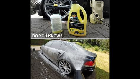 Meguiar's Wash & Wax in foam gun! - YouTube