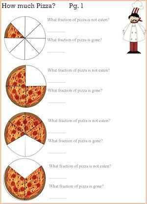 pizza fractions math  cooking activity kids cooking