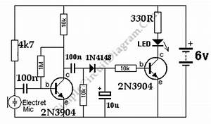 sound controlled activated triggered led simple circuit With ticking bomb sound circuit diagram youtube