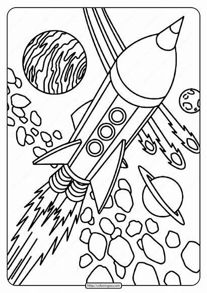 Rocket Space Coloring Printable Pdf