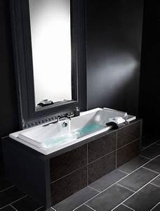 carrelage salle de bain ardoise - salle de bain noir et blanc c 39 est la tendance d co deco cool