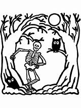 Skeleton Coloring Halloween Pages Printable Human Skull Cartoon Printables Sheets Cliparts Colouring Drawing Books Clipart Blank Pdf Skellington Jack sketch template