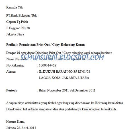 Surat Permintaan Penawaran Untuk Meminta Biaya Jasa Pengiriman Barang by Surat Permintaan Print Out Copy Rekening Koran Semua Surat