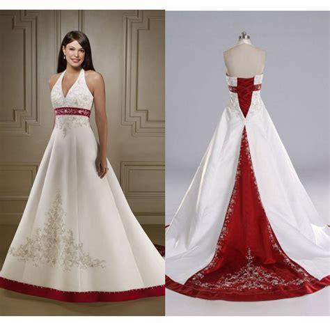 buy hot red  white wedding dresses