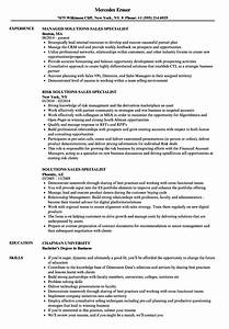 Solutions Sales Specialist Resume Samples