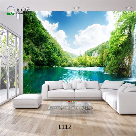 Living Room Wallpaper Malaysia by Beautiful Landscape 3d Wallpaper Customized Living 3d