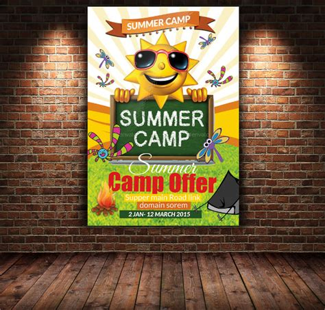 summer camp flyer templates  ms word psd ai