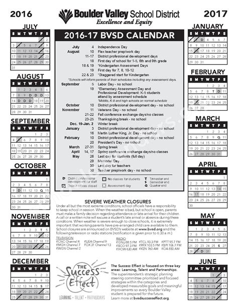 school calendar boulder valley school district boulder