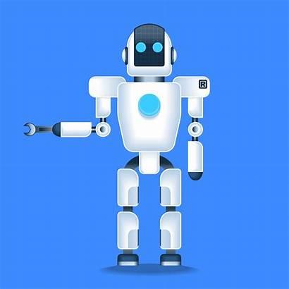 Robots Help Human Illustration Mechanic Vector Clipart