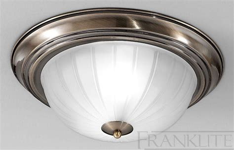 franklite domed glass small flush ceiling light with