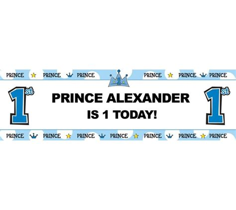 personalized  prince turns  birthday banner