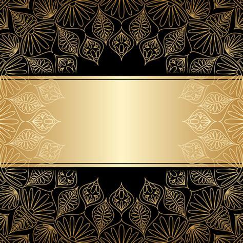 luxury golden decor  background vector