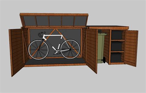 cycle storage sheds 25 best ideas about bike shed on garden bike