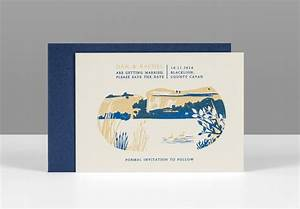 30 amazing letterpress screen printed designs With screen print your own wedding invitations