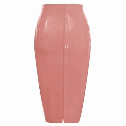 Pencil Tight Skirt Zip Latex